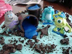 blå lagkage, lagkage, chokolademousse, kaffemousse, chokolade, mousse, kaffe, Kahlua