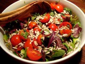 tomatsalat, salat, cherrytomater, tomater