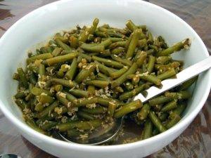 curry med bønner, grønne bønner, dal, chili